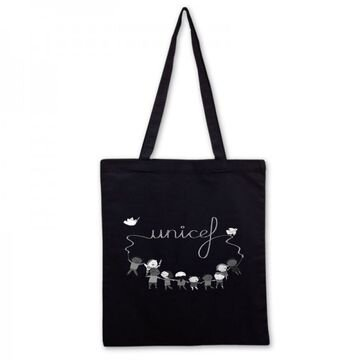 Plátěná taška UNICEF v černé barvě